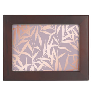 rose gold, asian,leaf,pattern,bamboo trees, beauty keepsake box