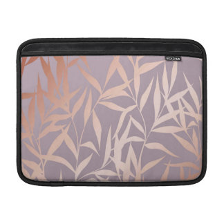 rose gold, asian,leaf,pattern,bamboo trees, beauty sleeve for MacBook air