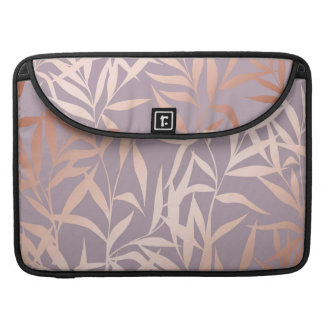 rose gold, asian,leaf,pattern,bamboo trees, beauty sleeve for MacBook pro