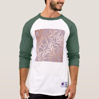 rose gold, asian,leaf,pattern,bamboo trees, beauty T-Shirt
