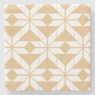Rose Gold Aztec Design Marble Stone Coaster