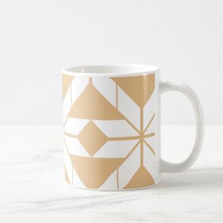 Rose Gold Aztec Geometric Design Mug