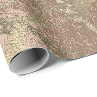 Rose Gold Beige Marble Shiny Metallic Grungy VIP Wrapping Paper