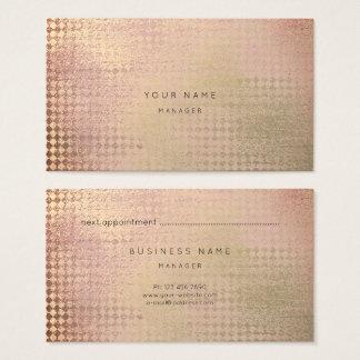 Rose Gold  Blush Diamond Cut Appointment Card