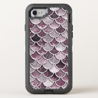 Rose Gold Blush Ombre Glitter Mermaid Scales OtterBox Defender iPhone 8/7 Case
