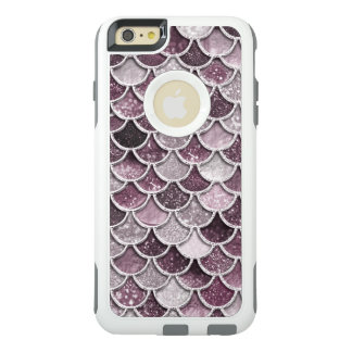 Rose Gold Blush Ombre Glitter Mermaid Scales OtterBox iPhone 6/6s Plus Case