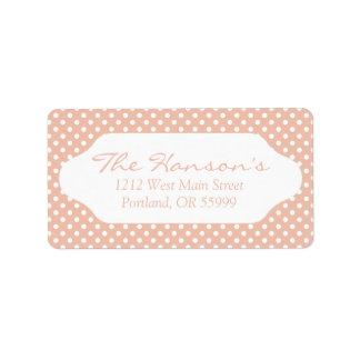 Rose gold/blush pink polka dots address labels