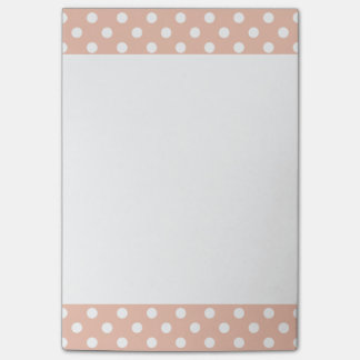 Rose gold/blush pink polka dots Post-It note pad
