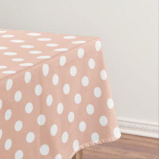 Rose gold/blush pink polka dots tablecloth