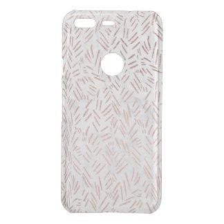 Rose gold brushstrokes confetti geometric marble uncommon google pixel case