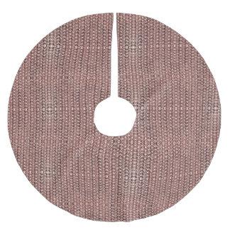 Rose Gold Chainmail Pink Metal Armor Metallic Look Brushed Polyester Tree Skirt
