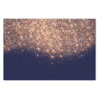 Rose Gold Copper Metallic Glitter Blue Navy Maroon Tissue Paper
