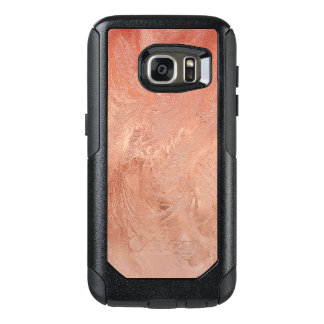 Rose Gold Copper Texture Metallic OtterBox Samsung Galaxy S7 Case