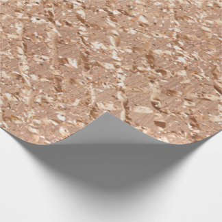Rose Gold Crystals Blush Copper Glitter Sparkly Wrapping Paper
