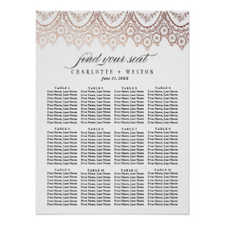 Rose Gold Delicate Wedding Seating Chart