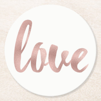 Rose gold disposable love coasters, round round paper coaster