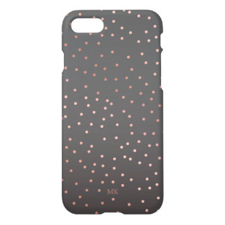 Rose Gold Dots Monogram iPhone 8/7 Case