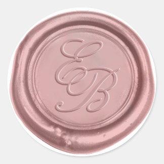 Rose Gold Elegant Wedding Monogram Wax Seal