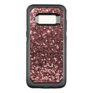 Rose Gold Faux Glitter Sparkle Shine Print OtterBox Commuter Samsung Galaxy S8 Case