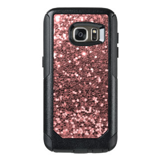 Rose Gold Faux Glitter Sparkle Shine Print OtterBox Samsung Galaxy S7 Case