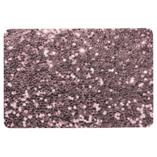 Rose Gold Faux Glitter Sparkles Floor Mat