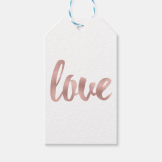 Rose gold favour tags