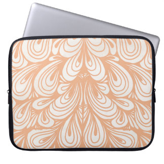 Rose Gold Feather Design Laptop Sleeve