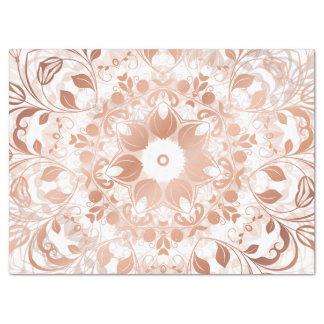 Rose Gold Floral Mandala Tissue Paper