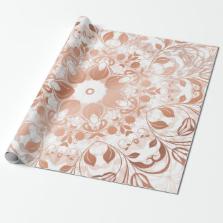 Rose Gold Floral Mandala Wrapping Paper