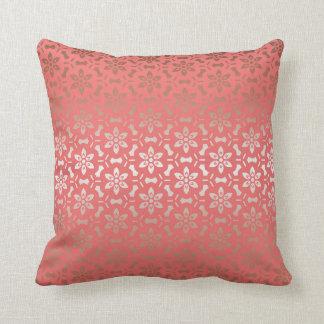 Rose gold flower pillow