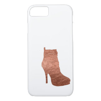 Rose Gold Foil High Heeled Boot Phone Case
