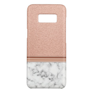 Rose Gold Foil on Marble Case-Mate Samsung Galaxy S8 Case