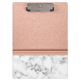 Rose Gold Foil on Marble Clipboard