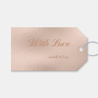 Rose Gold Foil Pink Pastel Wedding Day