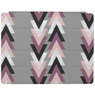 rose gold foil white marble purple black geometric iPad cover