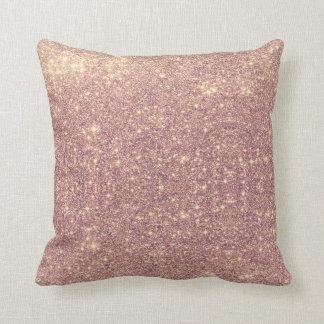 Rose Gold Galaxy Faux Space Sparkle Cushion