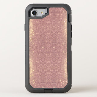 Rose Gold Galaxy Faux Space Sparkle OtterBox Defender iPhone 8/7 Case