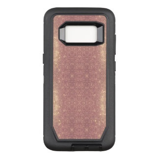 Rose Gold Galaxy Faux Space Sparkle OtterBox Defender Samsung Galaxy S8 Case