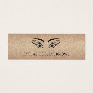 Rose gold glamourous elegant Eyelashes & eyebrow Mini Business Card