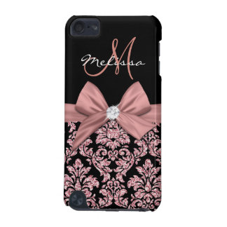 Rose gold glitter Black Damask, Bow, Diamond iPod Touch 5G Covers