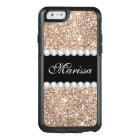 Rose Gold Glitter Black Otterbox iPhone 6/6s Case