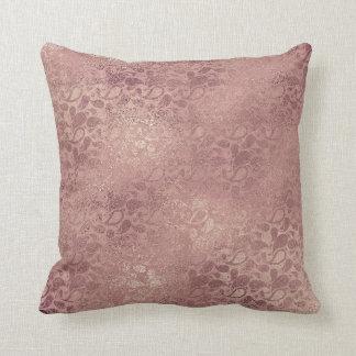 Rose Gold Glitter Blush Foxier Pink Pillow