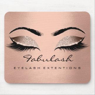 Rose Gold Glitter Branding Beauty Lashes Skin Silk Mouse Pad