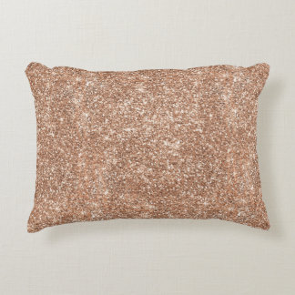Rose Gold Glitter Decorative Cushion