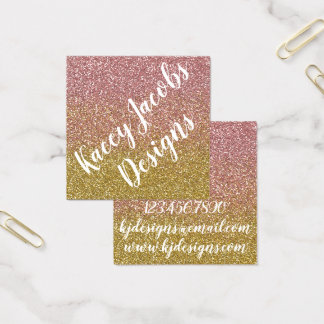 Rose Gold Glitter Design Business Cards