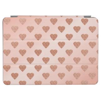rose gold glitter love hearts polka dots pattern iPad air cover