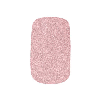 Rose Gold Glitter Minx Nail Art