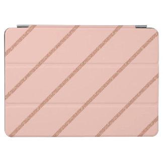 rose gold glitter pastel peach stripes pattern iPad air cover