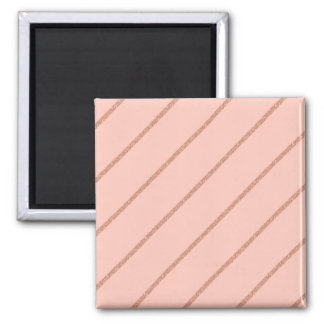 rose gold glitter pastel peach stripes pattern magnet