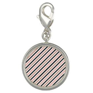 rose gold glitter pastel pink stripes pattern